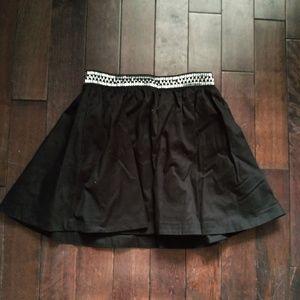 H&M Black Embellished Circle Skater Skirt Size 6